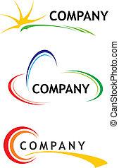 schablonen, logo, korporativ