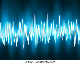 Schallwellen äscillierendes Leuchten. EPS 8