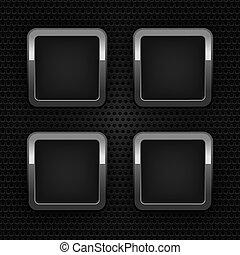 Schalten Sie Chrom-Web-Knöpfe ein, Blankos-Ornamental-Hintergrund