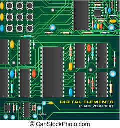 Schalttafel mit Mikrochips