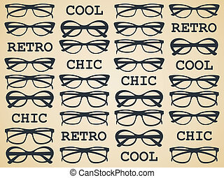 schick, retro, brille