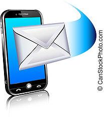 Schicken Sie einen Brief icon - Handy
