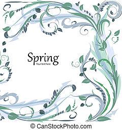 Schicker Blumenrahmen für Ihr Design.