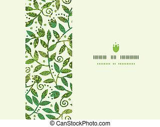 Schicker farbenfroher Zweige, horizontaler, nahrloser Muster Hintergrund