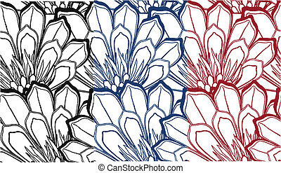 Schickes, nahloses Blumenmuster