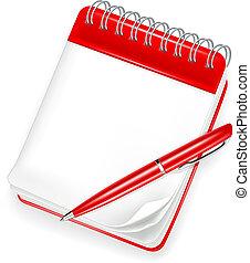 Schickes Notizbuch mit Stift