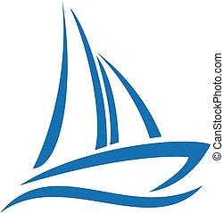 Schiffslogodesign. Yacht-Logo.