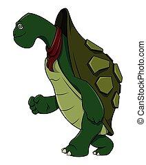 Schildkröten-Cartoon Illustration.