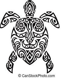 Schildkröten-Tatto-Design