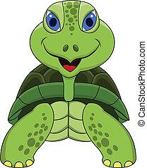 Schildkröten-Zeichen-Lächeln