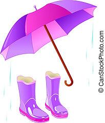 schirm, regen startet