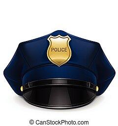 schirmmütze, polizei, cockade
