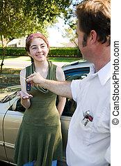 Schlüssel für das Auto