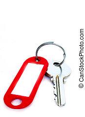 Schlüssel mit Etikett