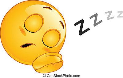 Schlafe Emoticon.