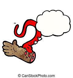 Schlangenbiss Cartoon