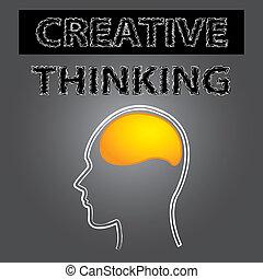 Schlaues, kreatives Gehirn.