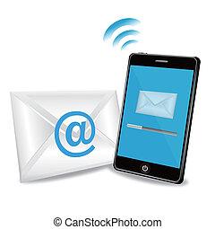Schlaues Telefon, E-Mails zu schicken