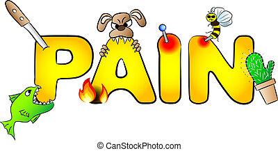 Schmerzen mit vielen Schmerzen.