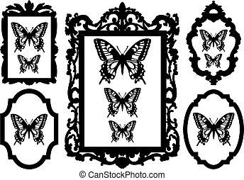 Schmetterlinge in Bilderrahmen