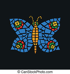 Schmetterlingsmosaik