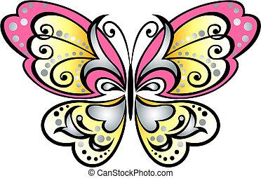 Schmetterlingsrollsymbol