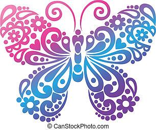 Schmetterlingsschwirrvektor