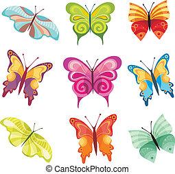 Schmetterlingsset.
