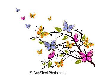 Schmetterlingszweig