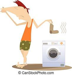 Schmutzige Wäsche.