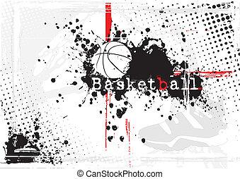 Schmutziger Basketball Hintergrund