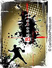 Schmutziges Baseball-Poster
