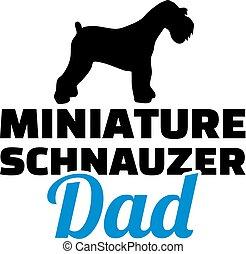 schnauzer, miniatur, silhouette, vati