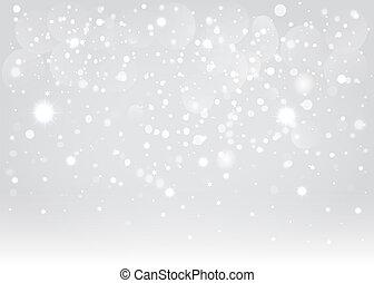 Schneebokeh Hintergrund. Vektor EPS10.