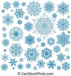 Schneeflocke weihnachtliche Ikonen. Schneeflocken-Sammlungskunst