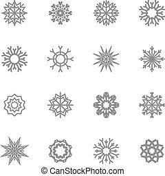 Schneeflocken bereit. Winter und Weihnachten. Vector Illustration. EPS10.