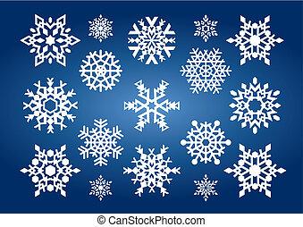 Schneeflocken (vektor)
