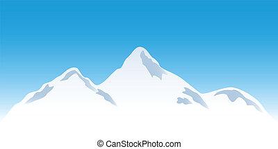 Schneeige Bergspitzen