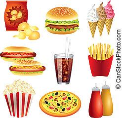 Schnelles Essensvektorset