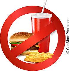 Schnelles Lebensmittelrisiko-Etikett.