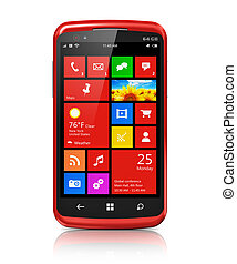 schnittstelle, modern, touchscreen, smartphone