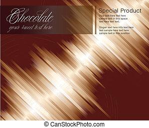 Schokoladenstreifen Hintergrund für Karten.