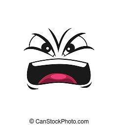 schreien, emoticon, böser , freigestellt, emoji, schreien
