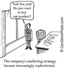 schreit, marketing, fenster, direktor, heraus