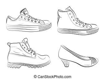 Schuhe bereit