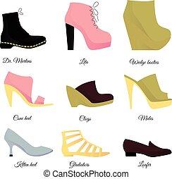 Schuhe bereit.