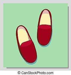 schuhe, kinder, sandals., isolated., illustration., modisch