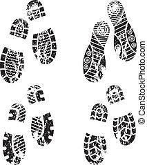 Schuhe rutschen