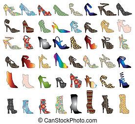 Schuhe, Silhouette 3