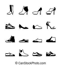 Schuhe Silhouette Set